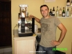 Levent at Cafe Leon - loves his coffee machine