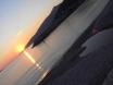 Heart on the beach sunset