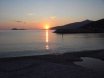 December sunset from the beach